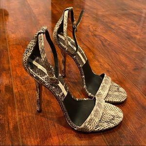 Michael Kors Collection Jacqueline Snakeskin Heel